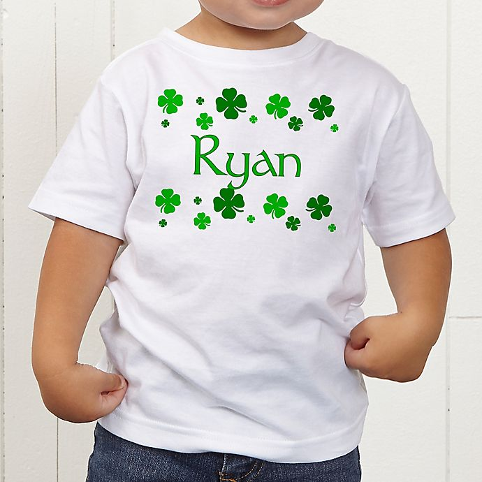 Alternate image 1 for Lucky Clover Personalized Toddler T-Shirt