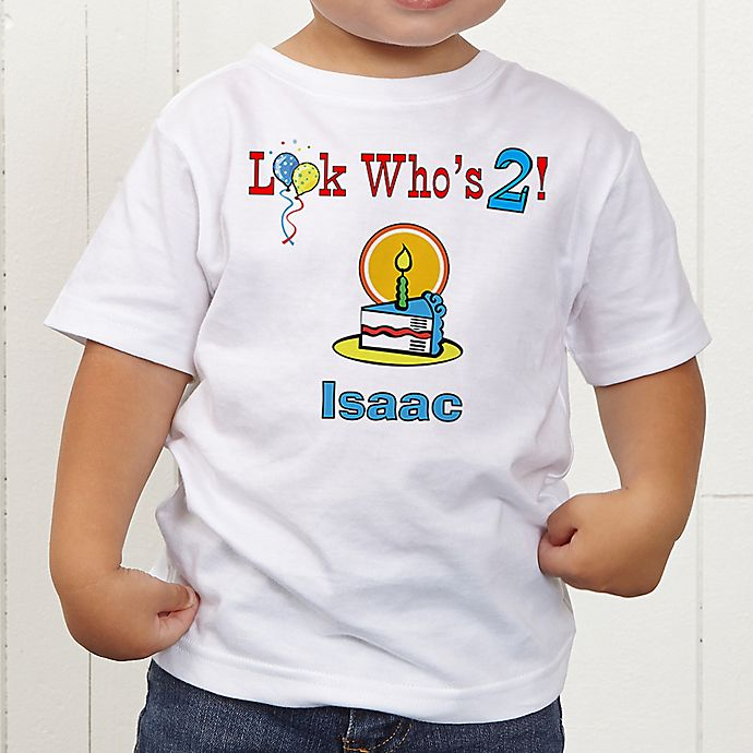 Alternate image 1 for Birthday Kid Personalized Toddler T-shirt