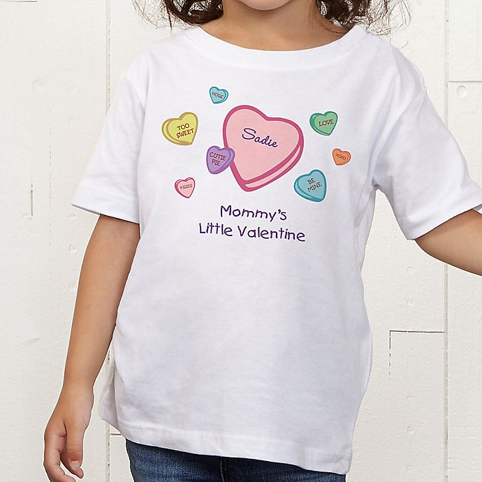Alternate image 1 for Little Valentine Personalized Toddler T-Shirt