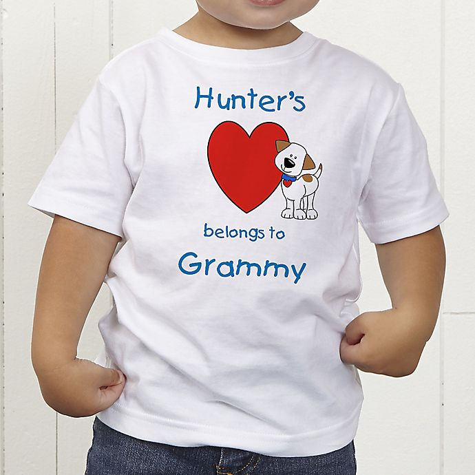 Alternate image 1 for Puppy Heart Belongs Personalized Toddler T-Shirt