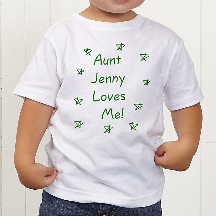 Alternate image 1 for Somebody Loves Me Personalized Toddler T-Shirt