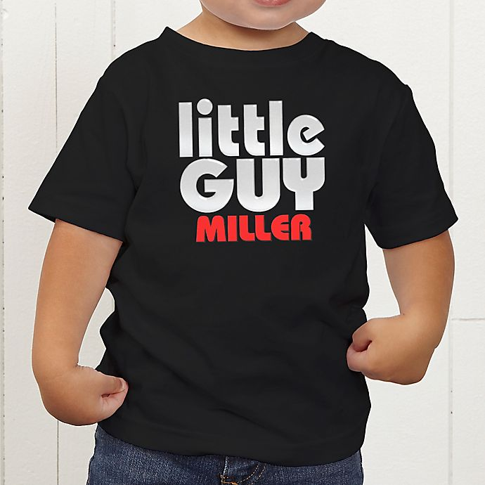 Alternate image 1 for Little Guy Personalized Toddler T-Shirt
