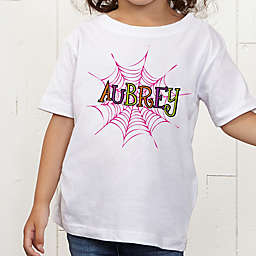 Spider Webs for Her Personalized Toddler T-Shirt