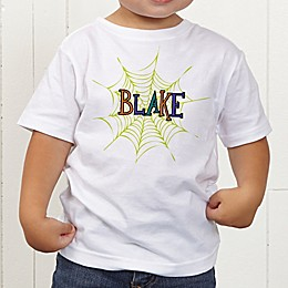 Spider Webs For Him Personalized Toddler T-Shirt