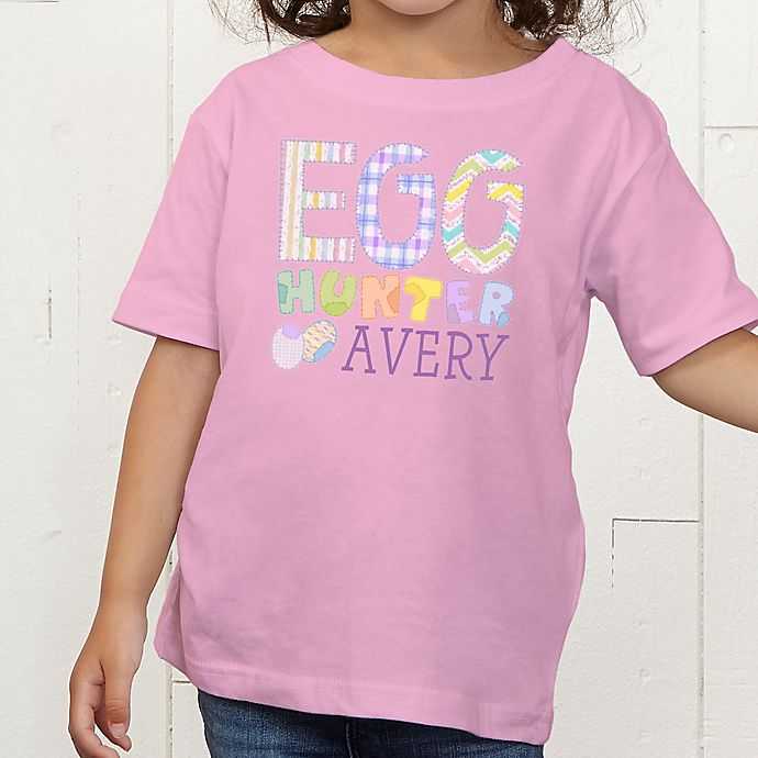 Alternate image 1 for Egg Hunter Personalized Toddler T-Shirt