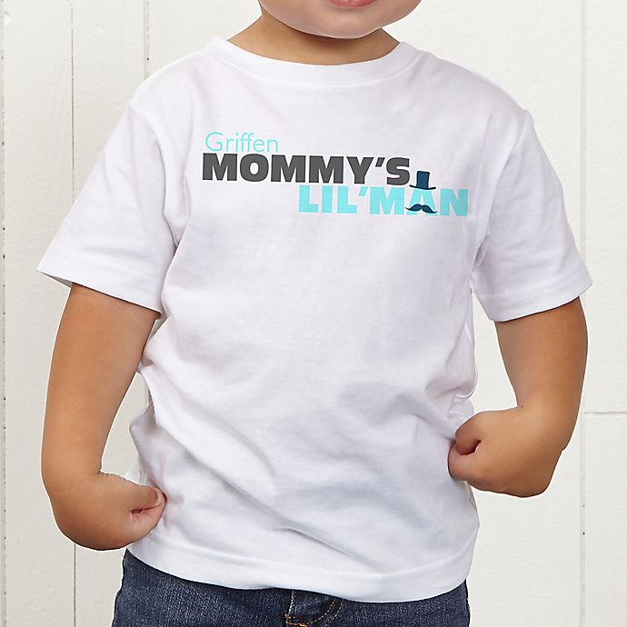Alternate image 1 for Mommy's Lil' Man Personalized Toddler T-Shirt