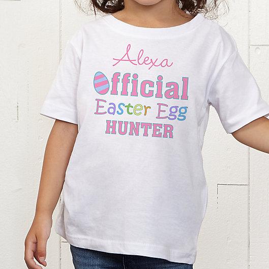 Alternate image 1 for Official Egg Hunter Personalized Toddler T-Shirt