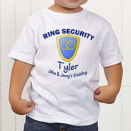 Ring Security Personalized Ring Bearer Toddler T-Shirt