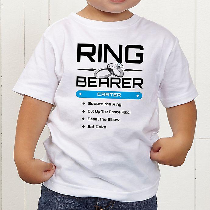 Alternate image 1 for Ring Bearer Personalized Toddler T-Shirt
