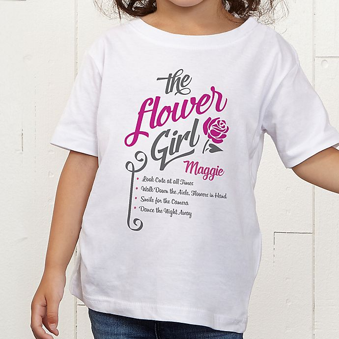 Alternate image 1 for The Flower Girl Personalized Toddler T-Shirt