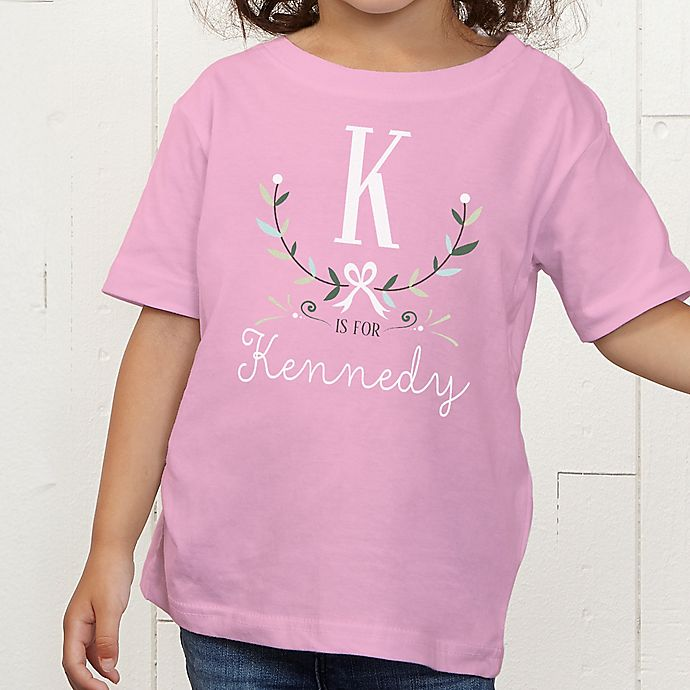 Alternate image 1 for Girly Chic Personalized Toddler T-Shirt