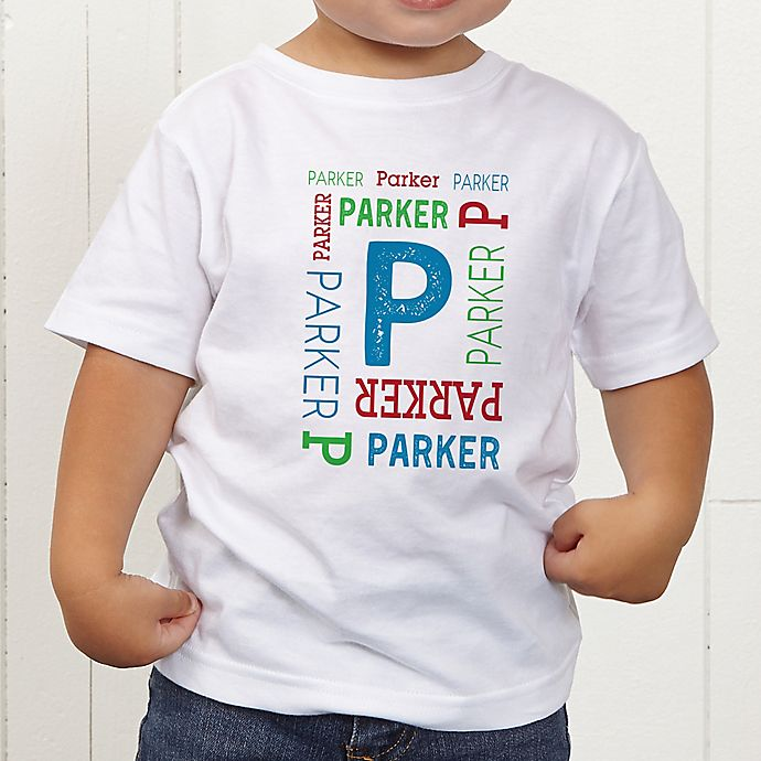 Alternate image 1 for Repeating Name Personalized Toddler T-Shirt
