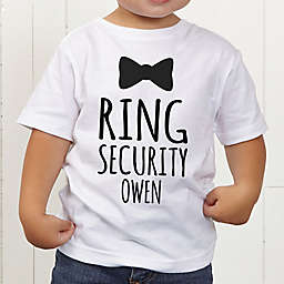 Ring Bearer Bow Tie Personalized Toddler T-Shirt