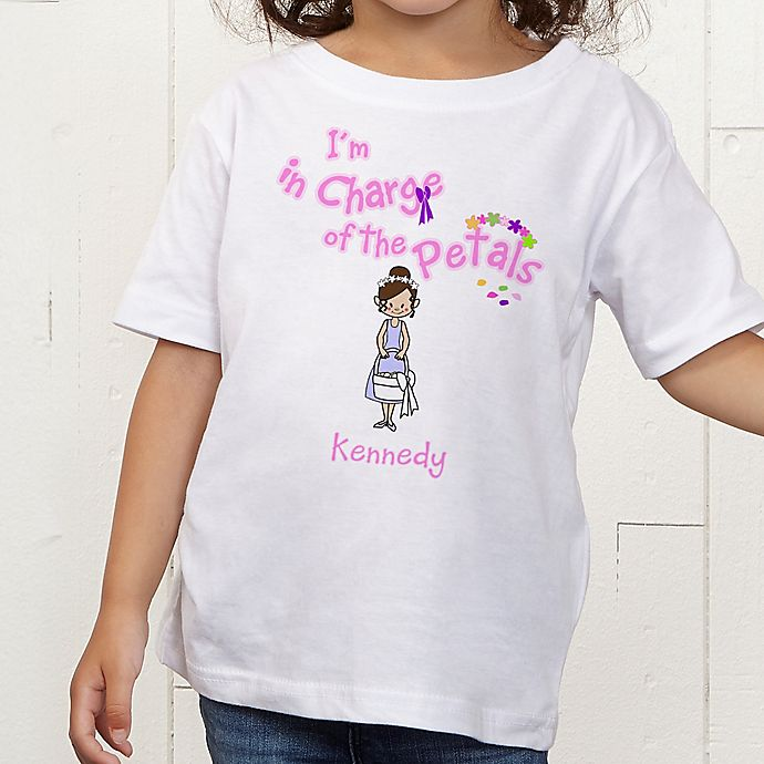 Alternate image 1 for Our Flower Girl Personalized Toddler T-Shirt