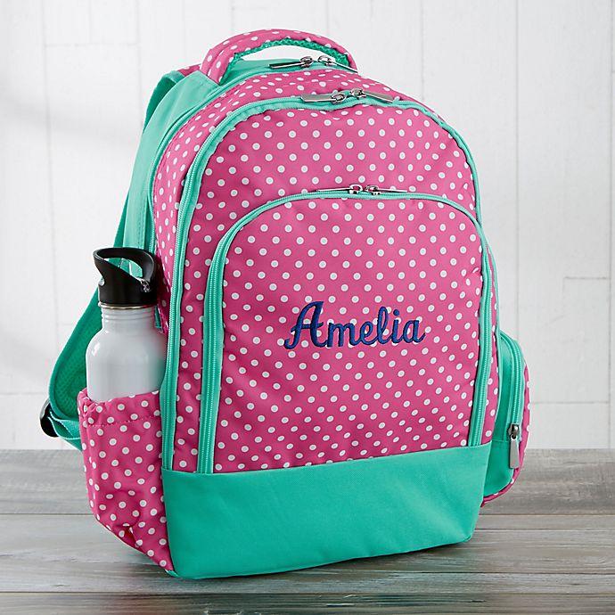 Alternate image 1 for Pink Polka Dot Embroidered Backpack