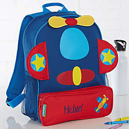 Airplane Embroidered Sidekick Backpack