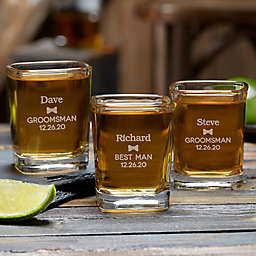 Groomsman Personalized Shot Glass