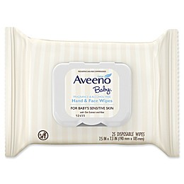 Aveeno® Baby 25-Count Sensitive Skin Baby Hand & Face Wipes