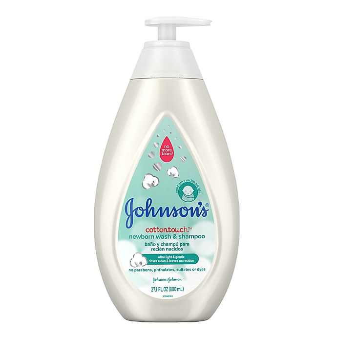 Alternate image 1 for Johnson's® CottonTouch™ 27.1 fl. oz. Newborn Wash and Shampoo