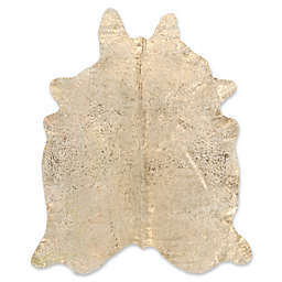 Mina Victory Metallic Free Form 5' x 7'  Handcrafted Area Rug in Beige/Gold