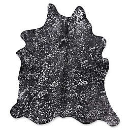 Mina Victory Metallic Free Form 5' x 7' Handcrafted Area Rug in Black/Silver