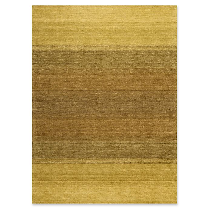 Alternate image 1 for Calvin Klein® Linear Glow Hand-Dyed 7'9 x 10'10 Area Rug in Verbena