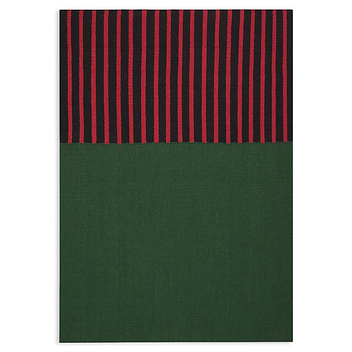 Alternate image 1 for Calvin Klein® Nashville 12 South Handmade Area Rug in Hunter Green/Magenta/Black