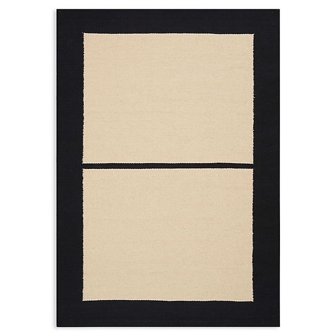 Alternate image 1 for Calvin Klein® Nashville Sobro Handmade 4' x 6' Area Rug in Ivory/Black