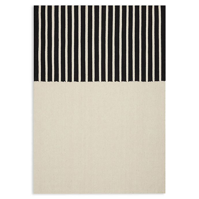 Alternate image 1 for Calvin Klein® Nashville Handmade 4' x 6' Area Rug in Ivory/Black