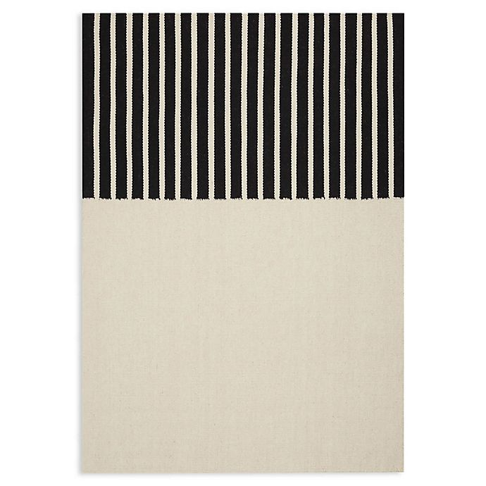 Alternate image 1 for Calvin Klein® Nashville Handmade Area Rug in Ivory/Black