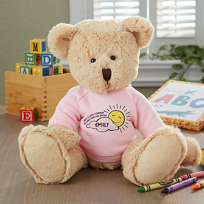 Alternate image 1 for Get Well Personalized Baby Teddy Bear