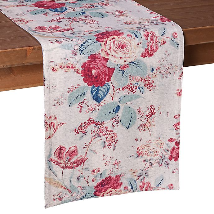 Alternate image 1 for Bee & Willow™ Home Reversible Floral Table Linen Collection