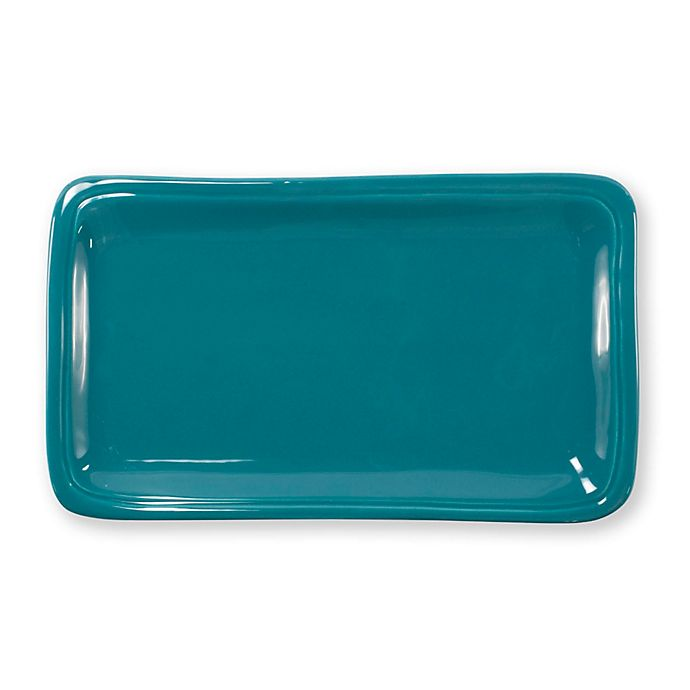 Alternate image 1 for viva by VIETRI Fresh 12-Inch Rectangular Platter in Teal