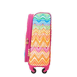Macbeth Collection® by Margaret Josephs Chevron 21-Inch Spinner Checked Luggage in Purple