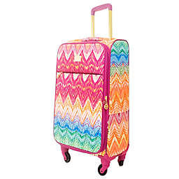Macbeth Collection® by Margaret Josephs Chevron 29-Inch Spinner Checked Luggage in Purple