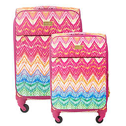Macbeth Collection® by Margaret Josephs Chevron Spinner Checked Luggage Collection
