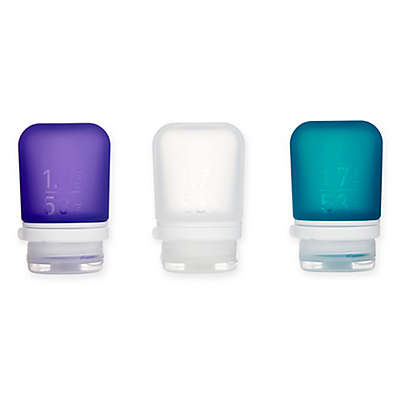 Humangear® GoToob+® 3-Pack Squeezable Travel Tubes in Purple/Teal