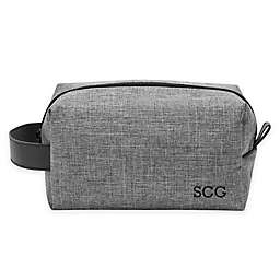 Cathy's Concepts Waxed Canvas and Leather Dopp Kit in Grey