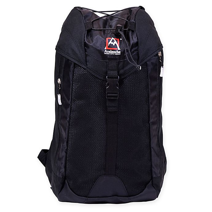 Alternate image 1 for Avalanche® Jenks Cinch Outdoor Backpack in Black