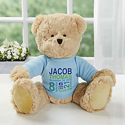 All About Baby Personalized Teddy Bear For Baby Boy- Blue
