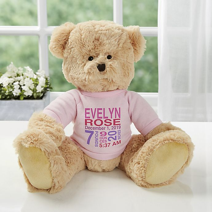 Personalized Baby Stuffed Animals, All About Baby Personalized Teddy Bear Bed Bath Beyond