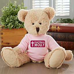 God Bless Personalized Teddy Bear- Pink