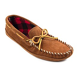 Minnetonka® Double Bottom Fleece Men's Slipper in Brown