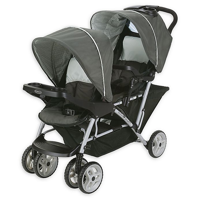 Alternate image 1 for Graco® DuoGlider™ Click Connect™ Double Stroller in Glacier™