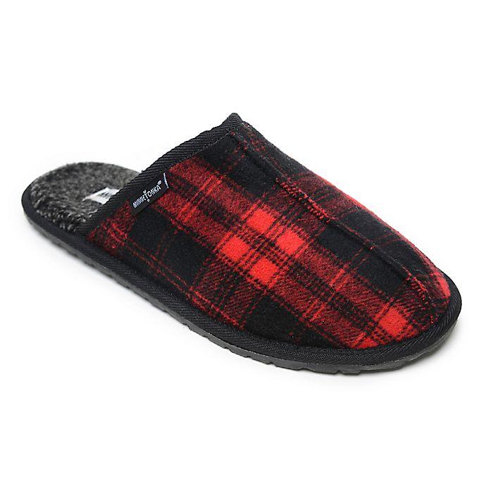 Alternate image 1 for Minnetonka® Franklin Plaid Men's Slippers