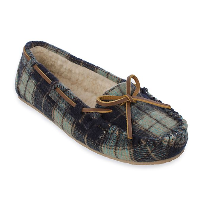Alternate image 1 for Minnetonka® Cally Plaid Women's Slippers