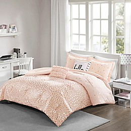 Intelligent Designs Zoey Metallic Triangle Print Comforter Set
