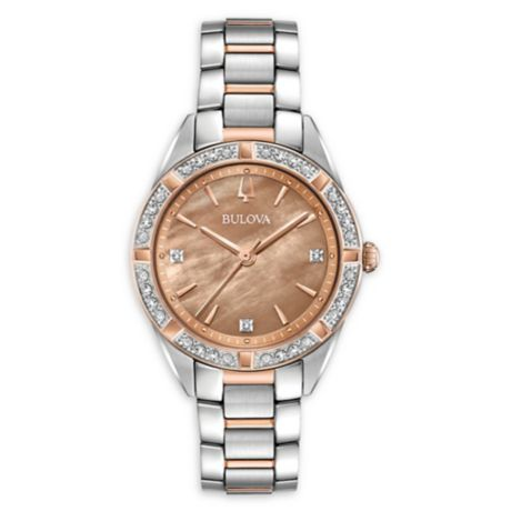 Bulova Sutton Diamond Women S 33m 98r264 Bracelet Watch
