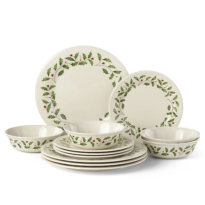 Alternate image 1 for Lenox® Holiday™ 12-Piece Classic Dinnerware Set