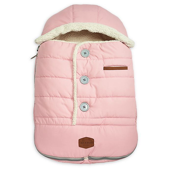 Alternate image 1 for JJ Cole® Urban BundleMe® with Buttons and Hood in Blush Pink